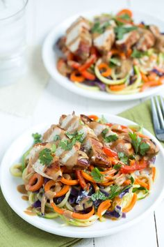 Zoodles: thai chicken zoodles