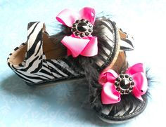 Toddler Zebra print squeaky shoesGirl may by TheBabyBellaBoutique, $26.99