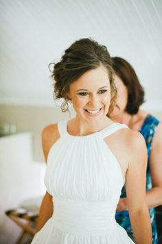 Love this dress!! Sweet high neckline  South Africa wedding from dna-photographers/