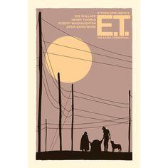 Movie poster retro print E.T.: The Extra-Terrestrial 12x18 inches. £12.00, via Etsy.