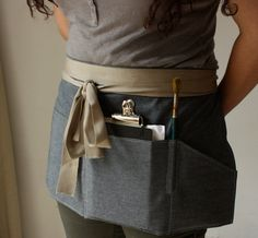 Linen Blend Half Apron by No2DaysAlike on Etsy, £23.00