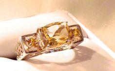 Vintage Golden Topaz Sterling Silver Filigree by EclairJewelry