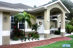 Better After curb appeal especially for south florida.