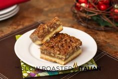Pecan Pie Bars from The Slow Roasted Italian
