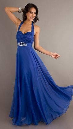 Royal Blue Dress With Straps