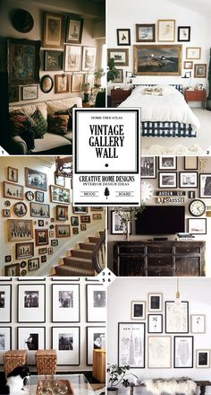 Here are some quick tips and ideas for creating your own vintage gallery wall…