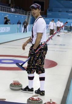 Why Should You Watch Curling During The Winter Olympics? Because Of These Amazing Pants Women's Hockey, Team Apparel, Roller Derby, Winter Olympics, Curlers, Winter Sports, Olympic Games, Eye Candy, Sporty