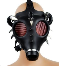 Dysfunctional Doll Devil Horn Spike Industrial Gas Mask : Respirators & Gas Masks