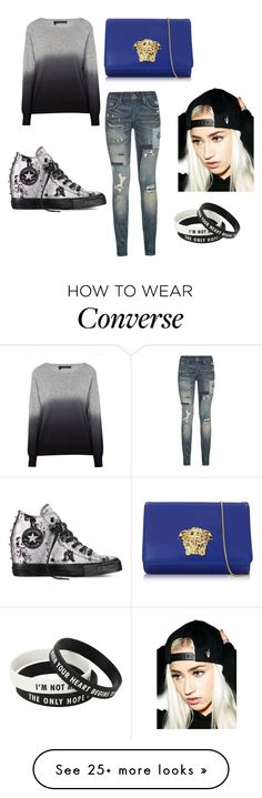 """""""Style over?"""" by goldengirl11 on Polyvore featuring 360 Sweater, Polo Ralph Lauren, Versace, Creep Street and Converse"""