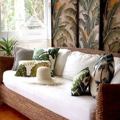 palm tree tropical cushions - Homeworks Design Store