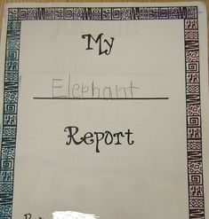 Our class had a lot of fun learning about Lions, Giraffes, Elephants, and Zebras. We spent a week learning about these mammals. Students the...