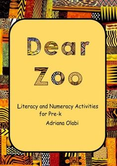 """This book contains 20 interactive literacy and math activities for preschool children, based on the story """"Dear Zoo"""" by Rod Campbell. Dear Zoo Activities, Numeracy Activities, Literacy And Numeracy, Preschool Centers, Animal Activities, Preschool Books, Book Activities, Dear Zoo Eyfs, Toddler Classroom"""