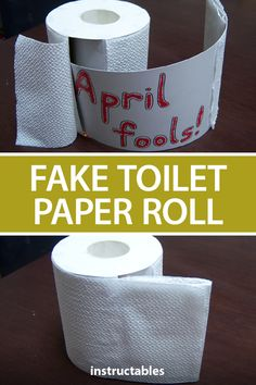 ATTILAtheHUNgry shares a simple way to trick your friends and family on April Fools Day with a fake toilet paper roll. #Instructables #joke #humor #AprilFools #prank April Fools Pranks, April Fools Day, Toilet Paper Roll, After School, The Fool, Activities For Kids, Life Hacks, Rolls, Cleaning