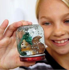 DIY Snow Globe… it's a Winter Wonderland! #snow #globes #jars