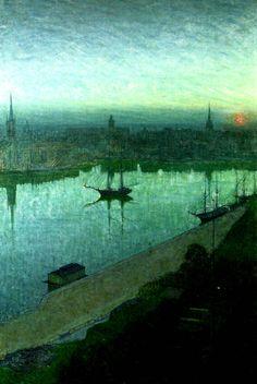 Sunrise over the City - Eugene Jansson  1892