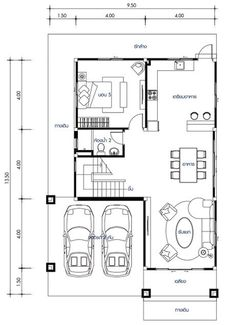 House design with 5 bedrooms. Style modern with roofHouse description:Number of floors 2 storey housebedroom 5 roomstoilet 2 roomsmaid's room Home Building Design, Building Plans, Building A House, House Design, Duplex House Plans, Small House Plans, 2 Storey House, Home Bedroom, Bedrooms