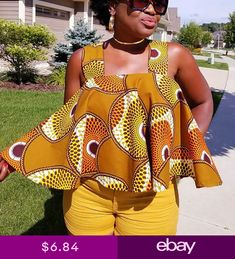 african print dresses Women African Print Sleeveless Off Shoulder Top Strapless Loose Blouse T-Shirt African Fashion Ankara, Latest African Fashion Dresses, African Print Fashion, Africa Fashion, African American Fashion, African Tops For Women, African Dresses For Kids, African Print Dresses, African Attire