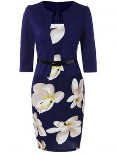 GET $50 NOW | Join RoseGal: Get YOUR $50 NOW!http://m.rosegal.com/bodycon-dresses/belted-flower-print-blazer-patchwork-761896.html?seid=6110022rg761896