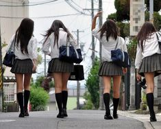○•SCHOOL GiRL~•○ school uniforms - - girls - - school bags - - pleated skirts - - - cute - - kawaii