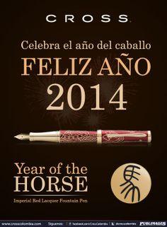 Bolígrafo year of the horse.  Feliz 2014. CROSS