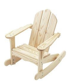 Look what I found on #zulily! Unfinished Adirondack Rocking Chair by Little Colorado #zulilyfinds