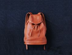 leather soft backpack