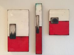 """Red Earth series"" Encaustic"