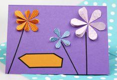 Diese Geburtstagskarte mit Blumen kann man ganz einfach selber machen. Lerne in dieser Anleitung, wie Du eine kreative Geburtstagskarte basteln kannst.