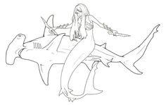 80 Best Mermaid coloring images | Mermaid coloring ...