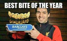 Suarez bite of the year....