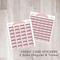 28 / 54 Cute Credit Card Stickers for YOUR planner! | Erin Condren Planner Plum /  Paper Planner