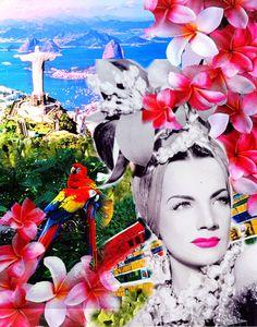 Carmen Miranda by Nichole Rodriguez, via Behance