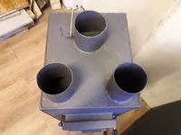 Hot air stove 10kw - for wood length 25cm! :: ARABOZI.COM Heat Exchanger, Stove, Wood, Range, Woodwind Instrument, Timber Wood, Wood Planks, Trees, Stoves