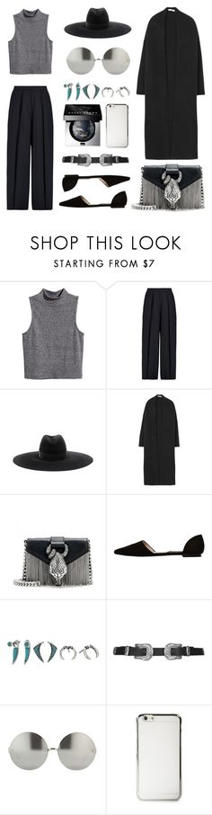 """Sleeveless Turtleneck with a Cardigan"" by eva-jez ❤ liked on Polyvore featuring H&M, Iris & Ink, Yves Saint Laurent, MANGO, Steve Madden, Topshop, Linda Farrow and Bobbi Brown Cosmetics"