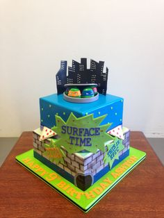 Ninja Turtles Surface Time Birthday Cake