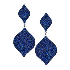 Indigo Sophia Earrings ($139) ❤ liked on Polyvore featuring jewelry, earrings, accessories, brincos, blue, fashion jewelryearrings, blue earrings, dangle earrings, blue jewelry and swarovski crystal earrings