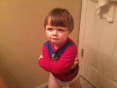 """I said, """"No!"""" - My gorgeous nephew."""