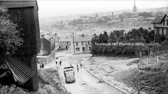 Bogside and the Derry Walls can be seen from the Beechwood area of Derry. Derry City, County Library, Irish Eyes, Old Images, Sonoma County, Northern Ireland, Professional Photographer, California, Architecture