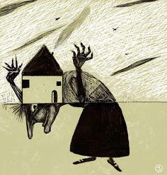 Natalia Jankowski Baba Yaga, Tapas, Moose Art, Comics, Animals, Inspiration, Illustrators, Buenos Aires Argentina, Animales