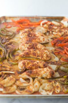 Easy Sheet Pan Chicken Fajitas – and disappearing accents ~ https://www.southernplate.com