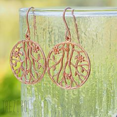 Rose gold plated sterling silver earrings in a form of Chinese Plum, or in botanic terminology Prunus Sinensis, is a tree that is definitely worth seeing when. Luxury Jewelry, Jewelry Shop, Jewelry Design, Swarovski Jewelry, Gold Jewelry, Jewellery Earrings, Flower Earrings, Sterling Silver Flowers, Sterling Silver Earrings