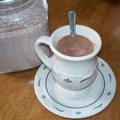 Mocha Coffee Mix: 1 1/4 c instant coffee ganules, 7 c dry milk powder, 5 3/4 c powdered chocolate drink mix, 1/4 c powdered sugar, 1 3/4 c non dairy creamer