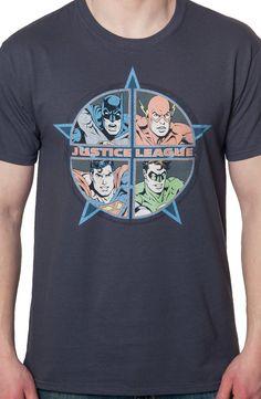 d8f5e7d9 Four Heroes Justice League Shirt: Super Heroes Justice League T-shirt Book  Shirts,