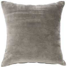 Jiti Pillow- Velvet Grey By (105 CAD) ❤ liked on Polyvore featuring home, home decor, throw pillows, pillows, velvet throw pillows, gray home decor, grey throw pillows, velvet accent pillows and grey accent pillows