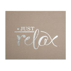 Just Relax Embellished Fabric Canvas Wall Art by Graham and Brown