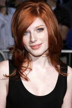 Love her hair Color and cut Reddish Brown Hair Color, Hair Color And Cut, Brown Hair Colors, Dipped Hair, Long Red Hair, Thick Hair, Cute Haircuts, Hot Hair Styles, Pale Skin