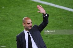 Head coach Josep Guardiola of FC Barcelona acknowledge the fans at the end of the La Liga match between FC Barcelona and RCD Espanyol at Camp Nou on May 5, 2012 in Barcelona, Spain. This is Guardiola's last match.