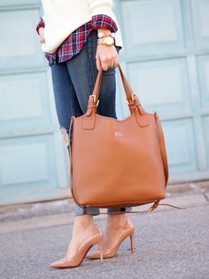 GiGi New York   Suburban Faux-Pas Fashion Blog   Saddle Olivia Shopper Tote