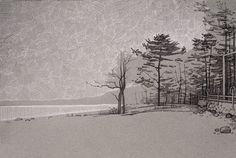 #gulf of Finland #landscape #trees #sketch