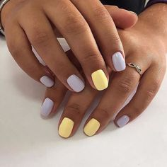 These super easy ideas can fit lazy girls and the beginners. Just make… These super easy ideas can fit lazy girls and the beginners. Just make… - Cute Acrylic Nails, Pastel Nails, Cute Nails, Cute Simple Nails, Hair And Nails, My Nails, Pointy Nails, Nagellack Design, Lavender Nails